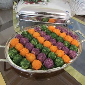 طرز تهیه سالاد الویه توپی رنگی و شیک ویژه کدبانوها