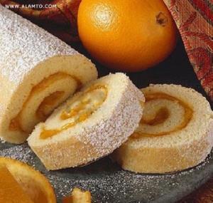 آموزش پخت رولت زردآلو و پرتقال