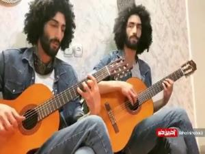 گیتارنوازی دیدنی از رحمان و رحیم سریال پایتخت