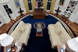 اتاق بیضی کاخ سفید دکوراسیون تازه گرفت