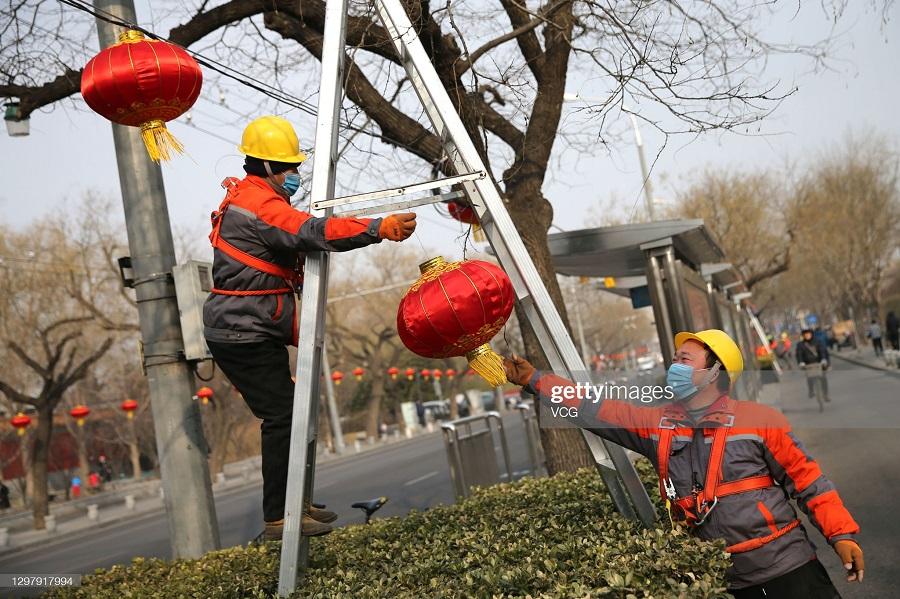 تزئینات چینی ها در استقبال از سال جدید