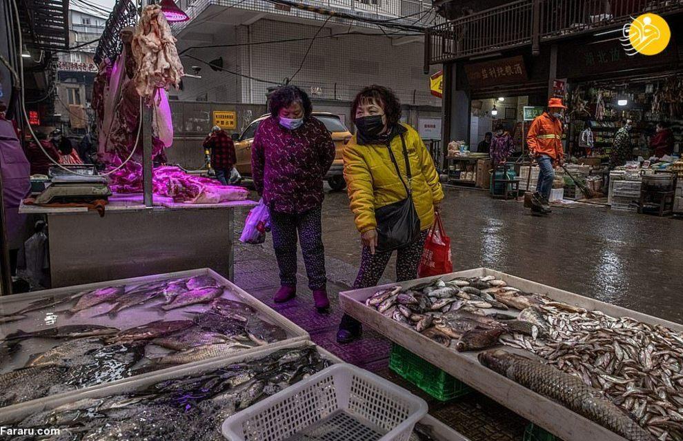 گشتی در بازارهای ووهان چین