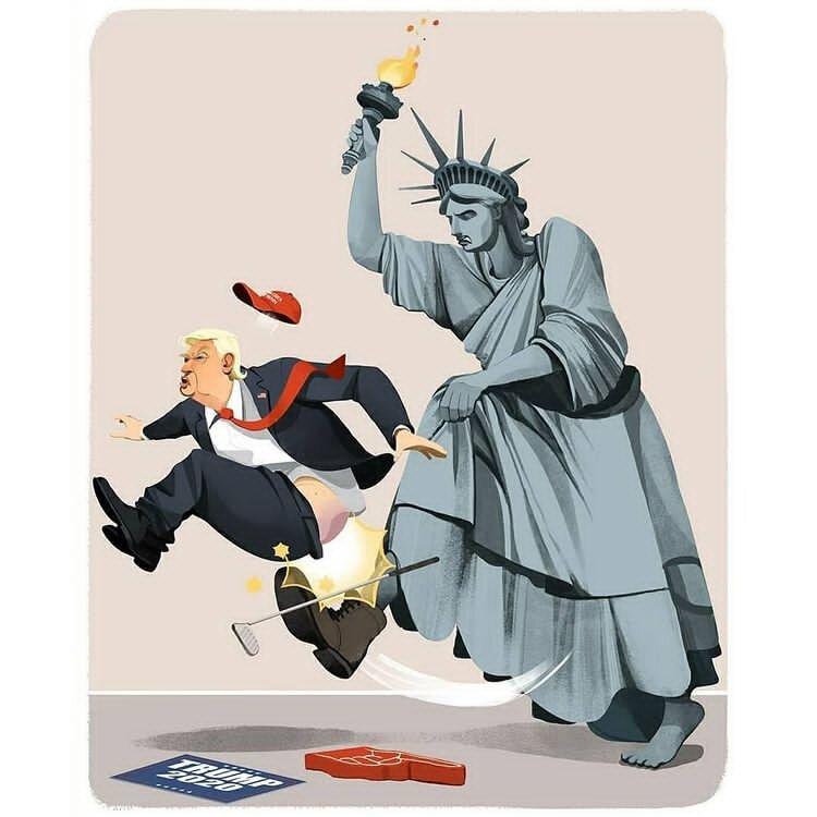 کاریکاتور/ ترامپ بالاخره اُردنگی خورد!