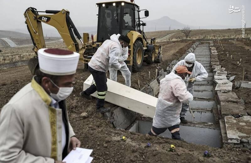 دفن قربانیان کرونا در آنکارا