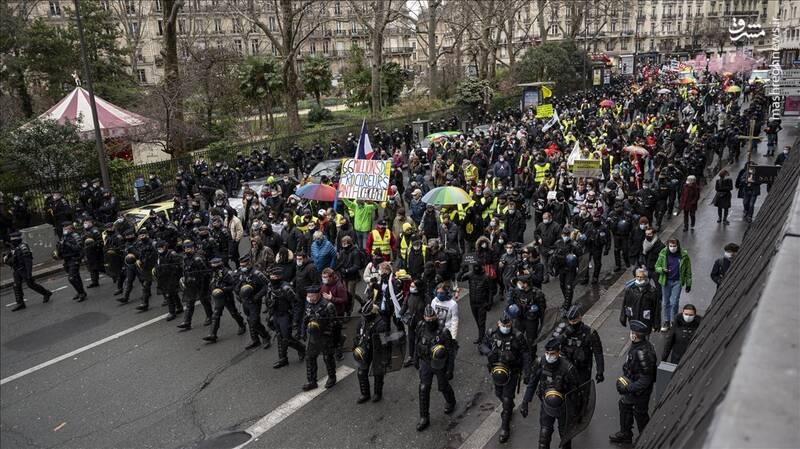 عکس/اعتراضات فرانسویها علیه بیکاری
