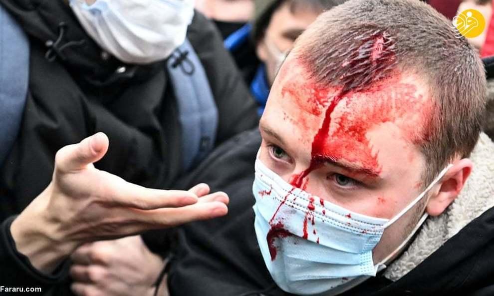 عکس/ سرکوب و بازداشت مخالفان پوتین
