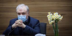 بغض وزیر بهداشت در بندرعباس به یاد شهید سلامت