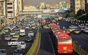 ترافیک سنگین صبحگاهی در ۱۲ بزرگراه و معابر اصلی پایتخت