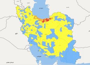 جزئیات رنگ های کرونا در ایران