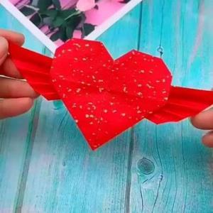ساخت کاردستی قلب زیبا و رمانتیک با خلاقیت ساده