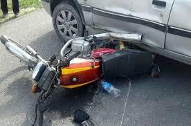تصادف خیلی شدید موتور با خودرو
