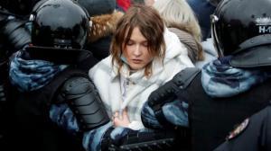 بازداشت معترضان به توقیف ناوالنی در روسیه