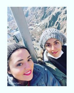 چهره ها/ تفریحات زمستانی ستایش در ارتفاعات دربند