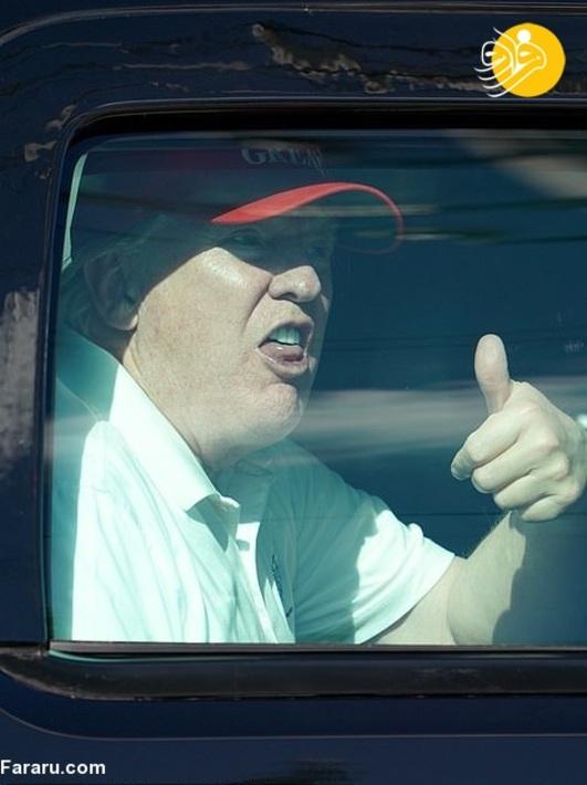 عکس/ گلف بازی ترامپ پس از ترک کاخ سفید