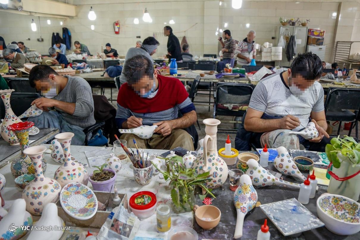 عکس/ کارآفرینی و شکوفایی استعدادها در خلوت زندان!