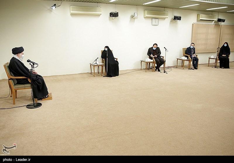 عکس/ دیدار خانواده شهید محسن فخری زاده با رهبر معظم انقلاب