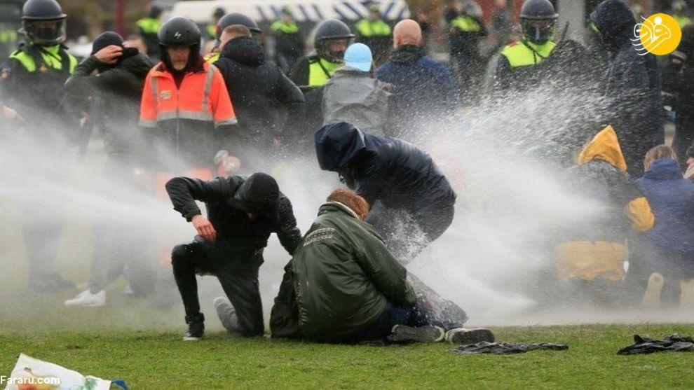 اعتراضات خشونت آمیز علیه محدودیتهایی کرونایی در هلند