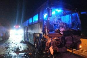 اتوبوس مسافربری کرمان–اصفهان آتش گرفت