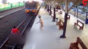 لحظه مرگ وحشتناک یک زن در ایستگاه قطار