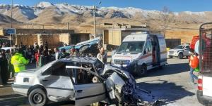 تصادف در جاده سپیدار یک کشته و ۵ مصدوم برجای گذاشت