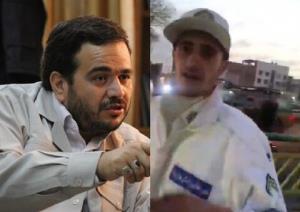 ویدئو/ لحظه سیلی زدن نماینده مجلس به سرباز راهور؛ عنابستانی دروغ میگوید؟