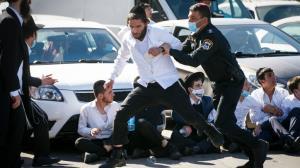درگیری شدید یهودیان افراطی با پلیس در سرزمین های اشغالی