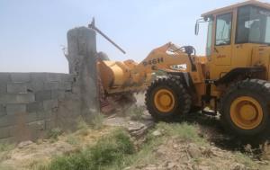 ٦٥ ساختوساز غیرمجاز در زمینهای کشاورزی شهرستان ری تخریب شد