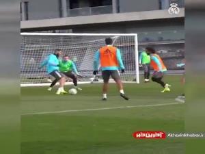 تیکی تاکای زیبا در تمرینات رئال مادرید