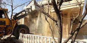 تخریب 43 ویلای میلیاردی در منطقه خوشنام ملارد تهران