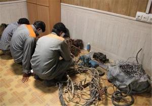 دستگیری سارقان یک تن کابل برق در آغاجاری