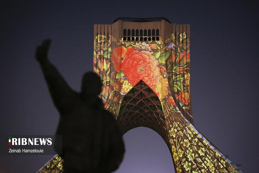 ویدیو مپینگ برج آزادی با موضوع خوشنویسی