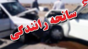 تصادف شدید مینی بوس با کامیون در قزوین
