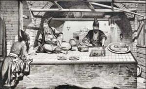 نخستین پیک غذا در تاریخ ایران