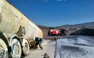 حادثه جدا شدن تانکر حامل گاز مایع از تریلر
