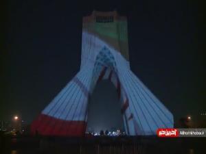 ویدئومپینگ خوشنویسی راه ابریشم در برج آزادی