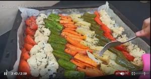 آموزش تهیه سبزیجات ترد و گریل شده