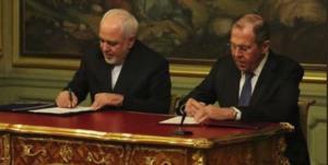 لحظه امضای توافق ایران و روسیه برای امنیت سایبری