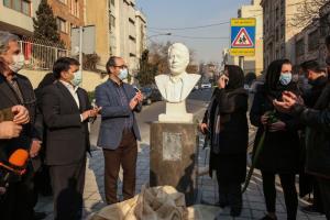 برگزاری آئین پلاککوبی و رونمایی از سردیس مرحوم پورحیدری