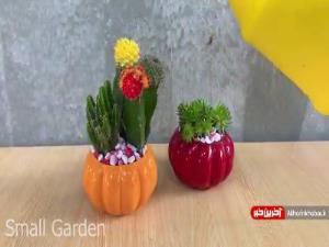 آموزش ساخت گلدان با وسایل بازیافتی