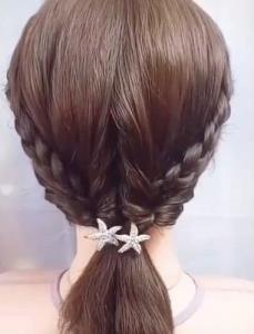 آموزش شنیون ساده بافت مو زیبا برای مو کوتاه ها