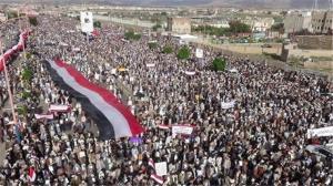 تصاویری از راهپیمایی ضد آمریکایی در استانهای یمن