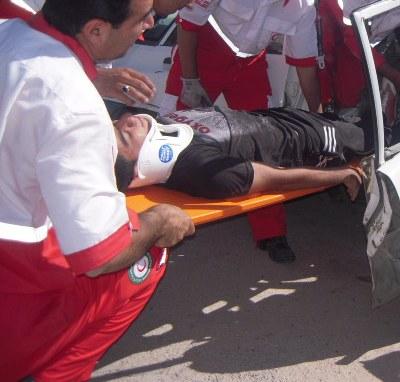 واژگونی خودرو آفرود جان پدر و پسر را گرفت