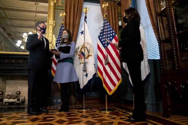 ادای سوگند وزیر امور خارجه جدید آمریکا