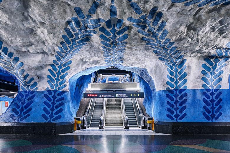 بزرگترین دیوارهای هنری دنیا در متروی استکهلم