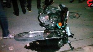 واژگونی موتورسیکلت در اتوبان چمران
