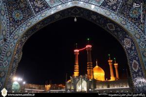 عکس/ حال و هوای قم در شب وفات حضرت ام البنین(س)