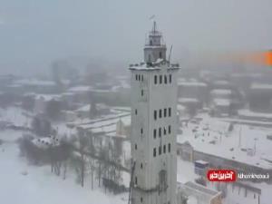 لحظه فرو ریختن یک برج در روسیه