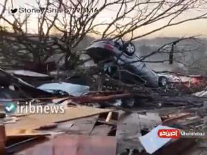 خسارات گردباد در آلابامای آمریکا