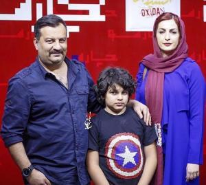 چهره ها/ هستی مهدوی در کنار فرزندان مهراب قاسم خانی