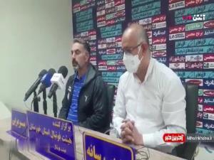 نشست خبری فکری پیش از دیدار با نفت مسجدسلیمان